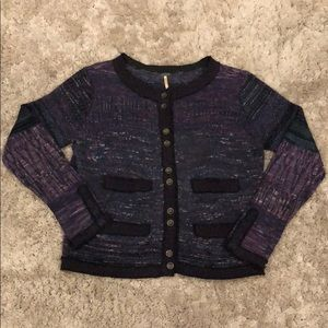 Free People Silk Wool Angora Blend Knit Cardigan